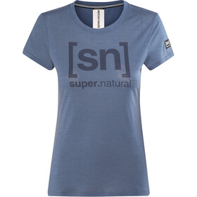 super.natural Essential I.D. Tee Women Dark Avio/Print